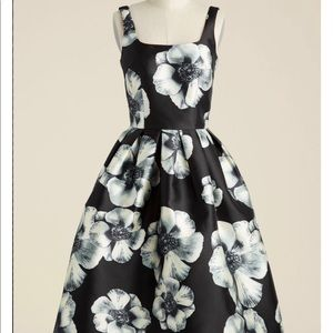 Chi Chi London Black and White Floral Dress